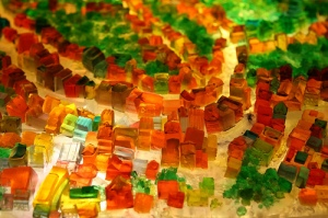 Jello pieces
